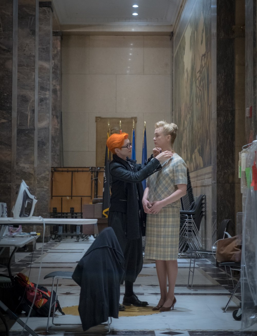 Sandy Powell at work on set of The Irishman (2019)