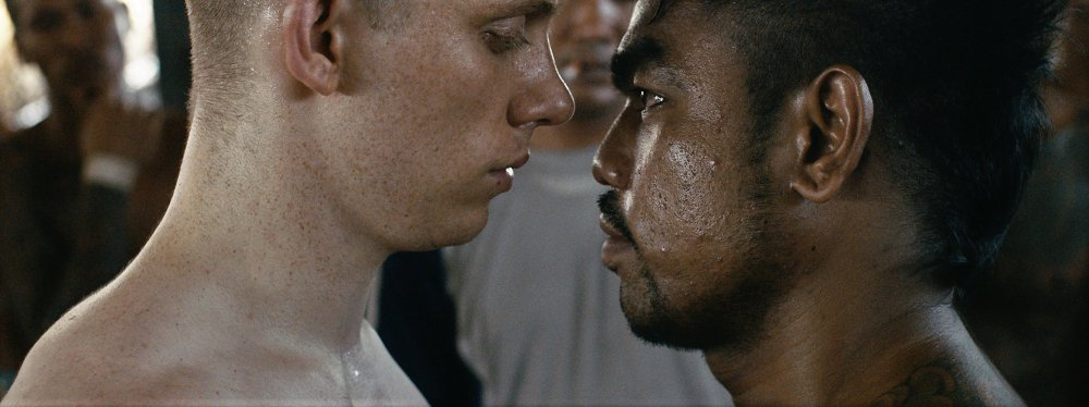 Joe Cole as Billy Moore (left) in A Prayer Before Dawn