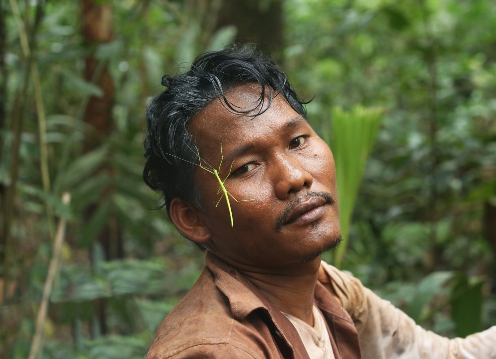 Rous Mony, a local Cambodian actor who got his big break while working as a lighting technician on the Australian film Wish You Were Here (2012) when he was scouted to also star in it. Here he pauses to reflect on the many insects that join the crew on set each day