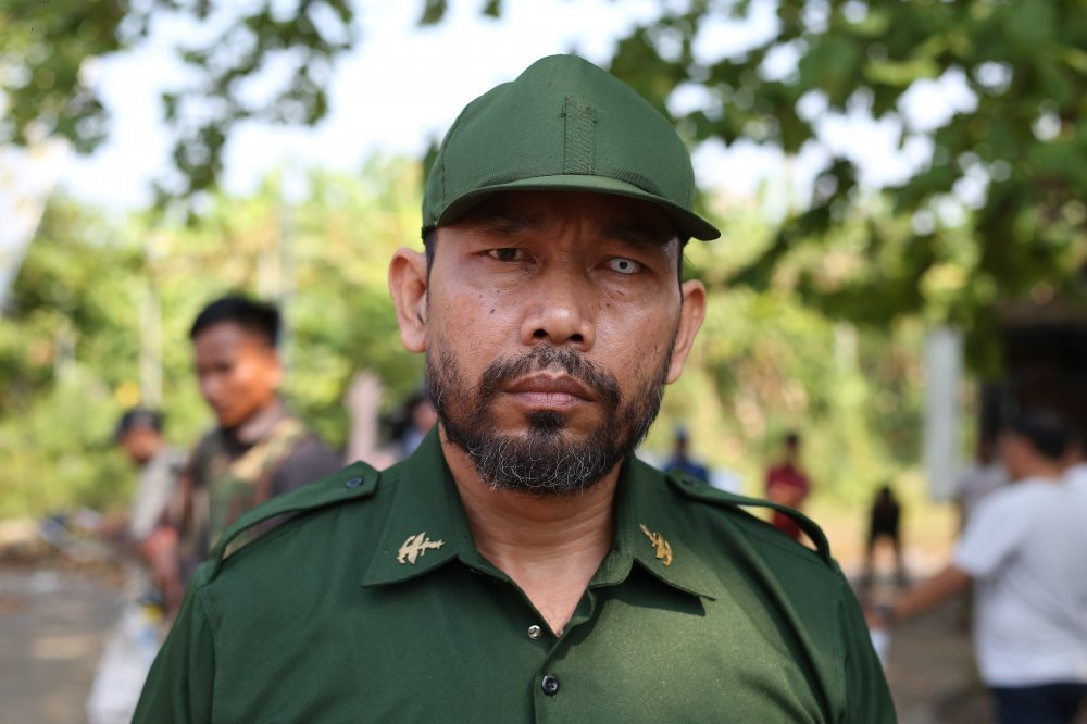 Cambodian actor Hun Sophy, who plays the guard leader