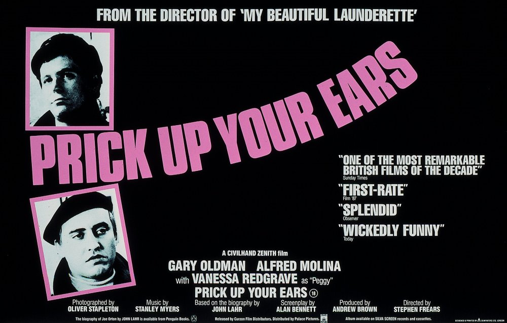 The UK poster for Prick up Your Ears (1987)