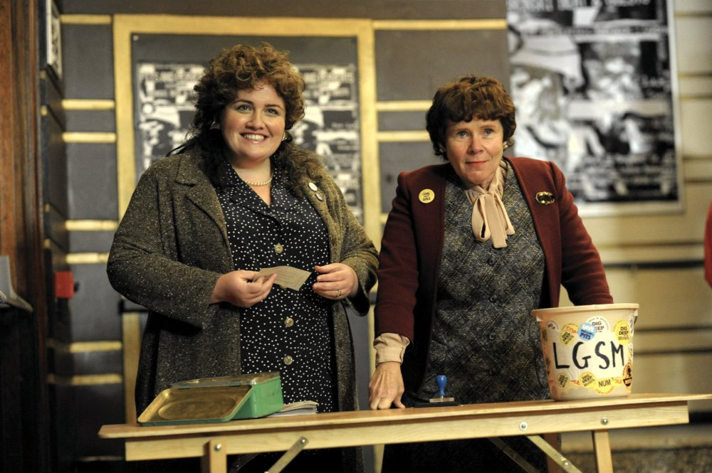 Miner key: Jessica Gunning as Sian and Imelda Staunton as Hefina