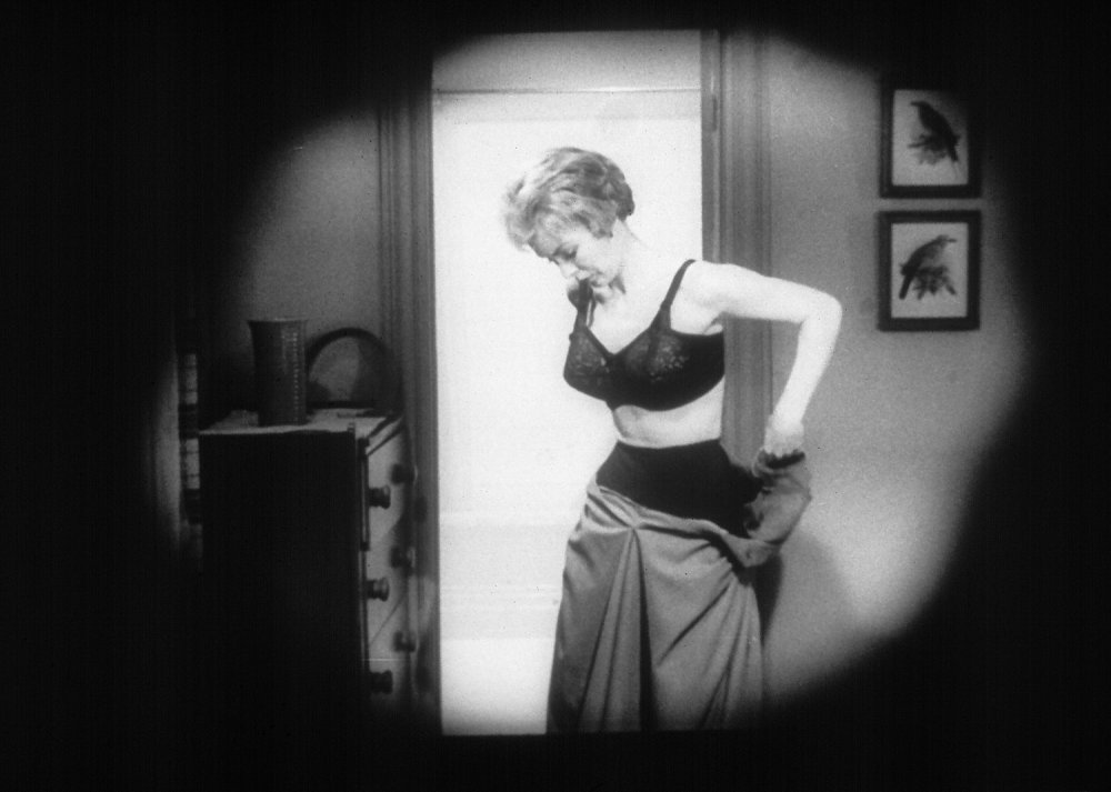 Janet Leigh undresses in Psycho (1960)