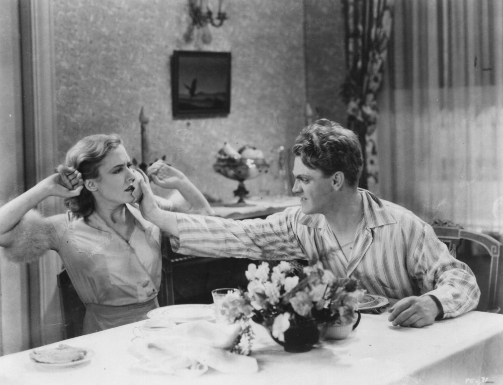 Mae Clarke and James Cagney in The Public Enemy (1931)