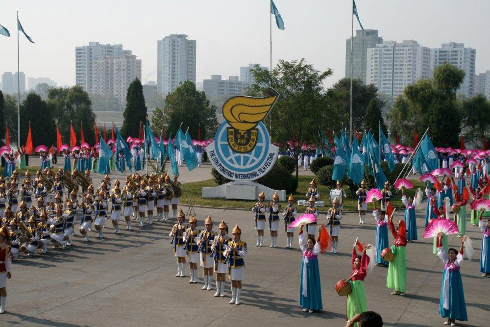 The Pyongyang International Film Festival's opening ceremony