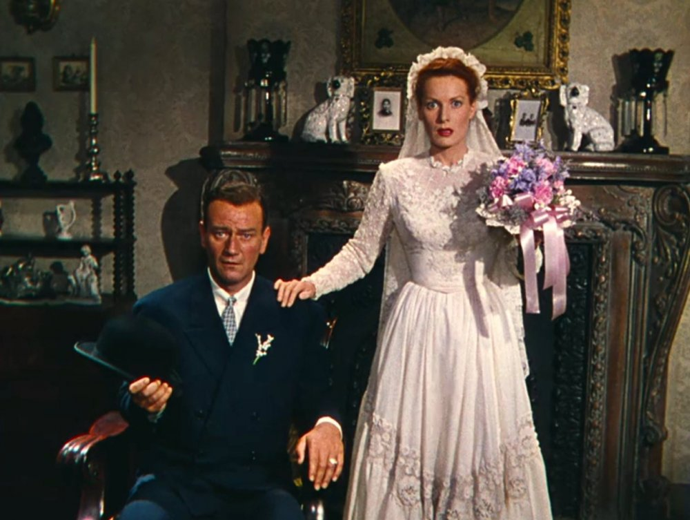 Wayne and O'Hara in The Quiet Man (1952)