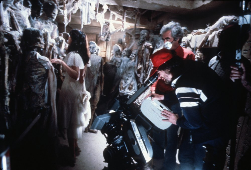 More subterranean ghoulishness, with Spielberg lining up a shot of Marion Ravenwood (Karen Allen) in peril