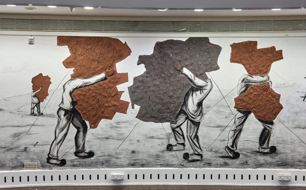 Prabhakar Pachpute's Resistance (2016), one of the artworks showcased in the 2018 AV Festival