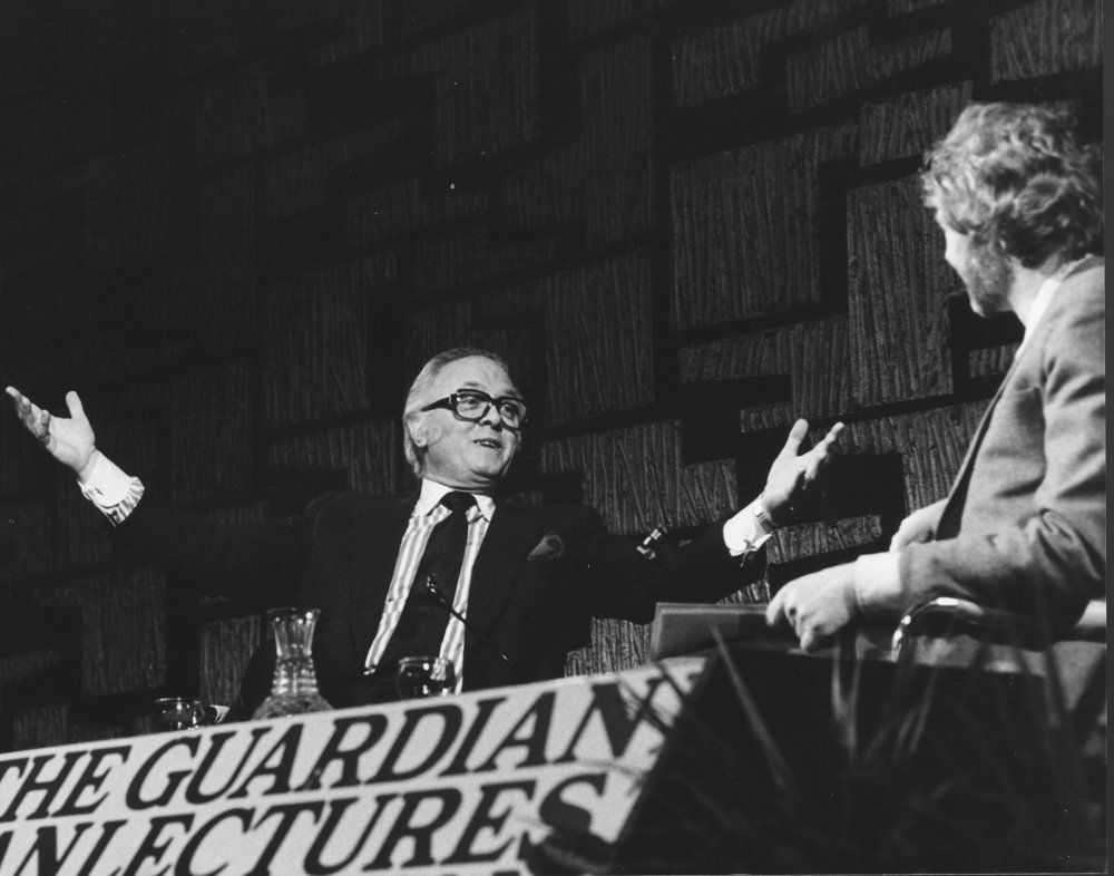 Richard Attenborough on stage at the National Film Theatre