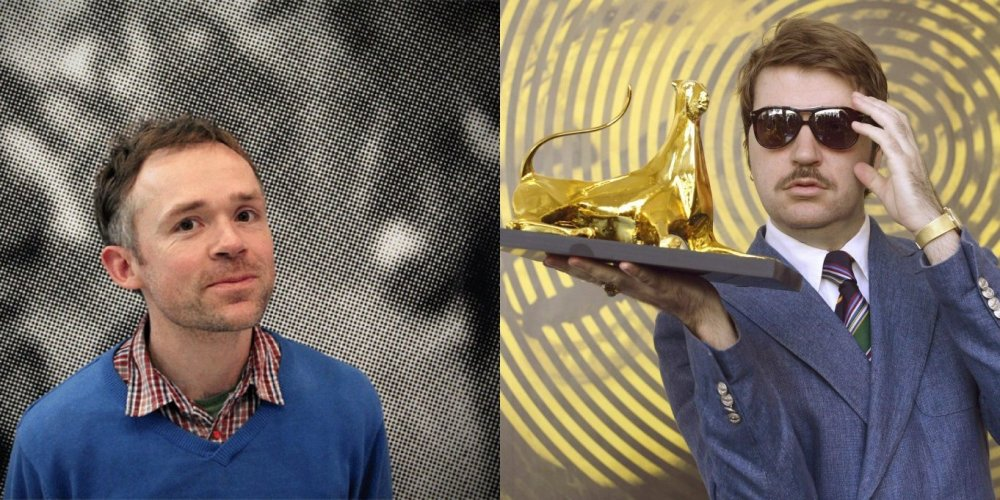 Ben Rivers (left) and Albert Serra (with the 2013 Locarno Film Festival's Golden Leopard for his The Story of My Death)