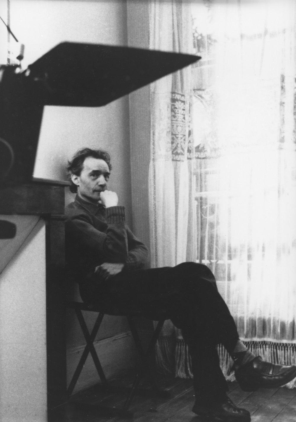 Jacques Rivette directing La Bande des quatre (1989)