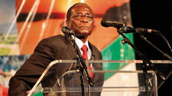 Mugabe at Zimbabwe investment conference