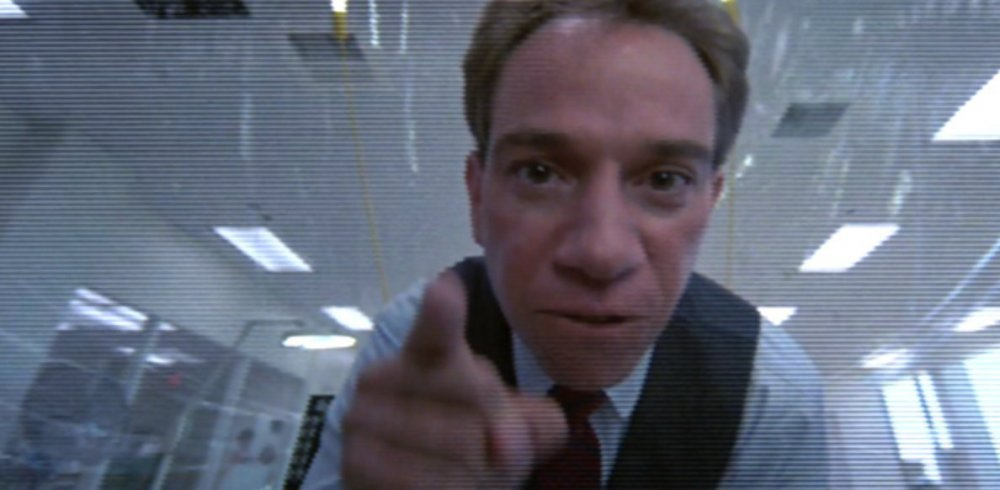Miguel Ferrer as Bob Morton, through the point of view of his titular creation in Robocop (1987)