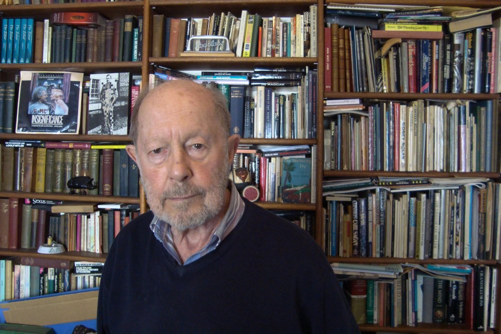 Nicolas Roeg in May 2015, pictured posing for David Thompson's BBC Arena portrait Nicolas Roeg: It's About Time