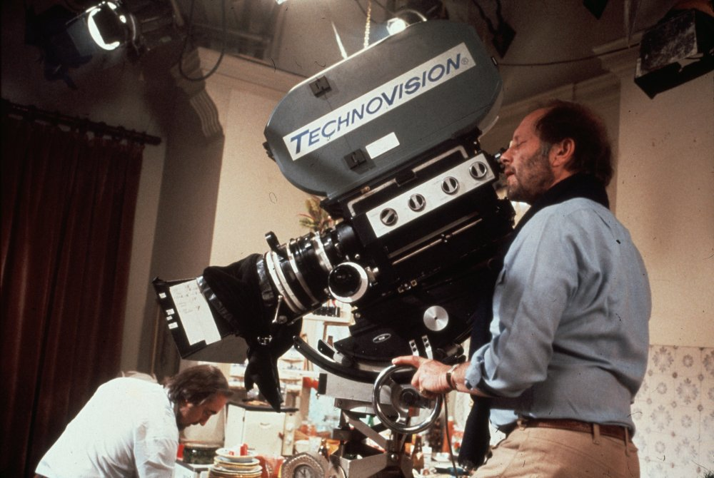 Nicolas Roeg directing on the set of Bad Timing (1980)