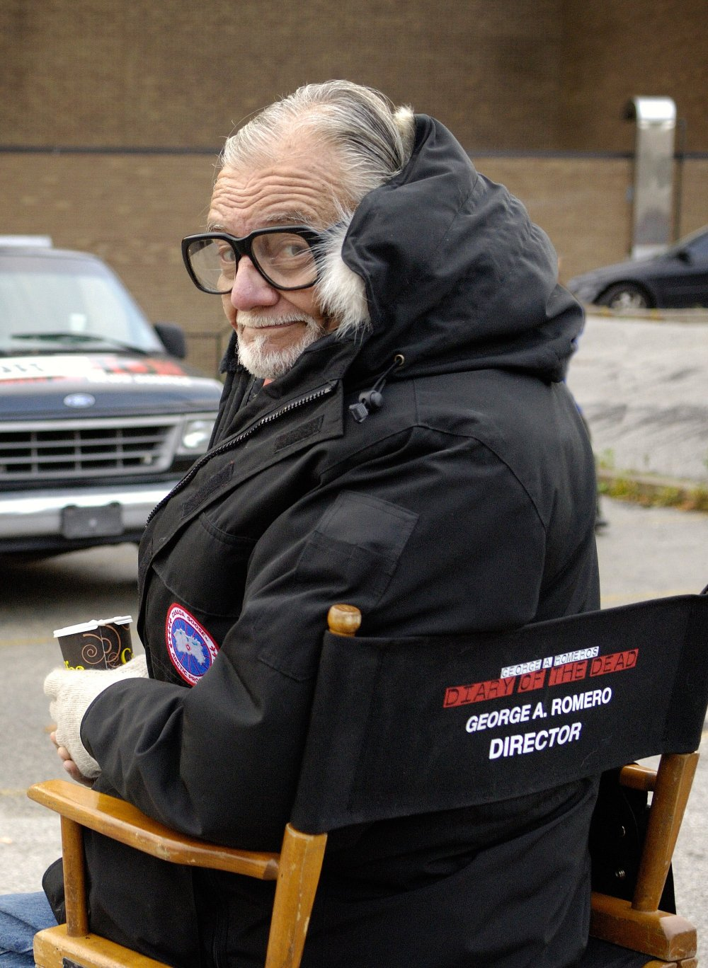 George A Romero shooting Diary of the Dead (2008)