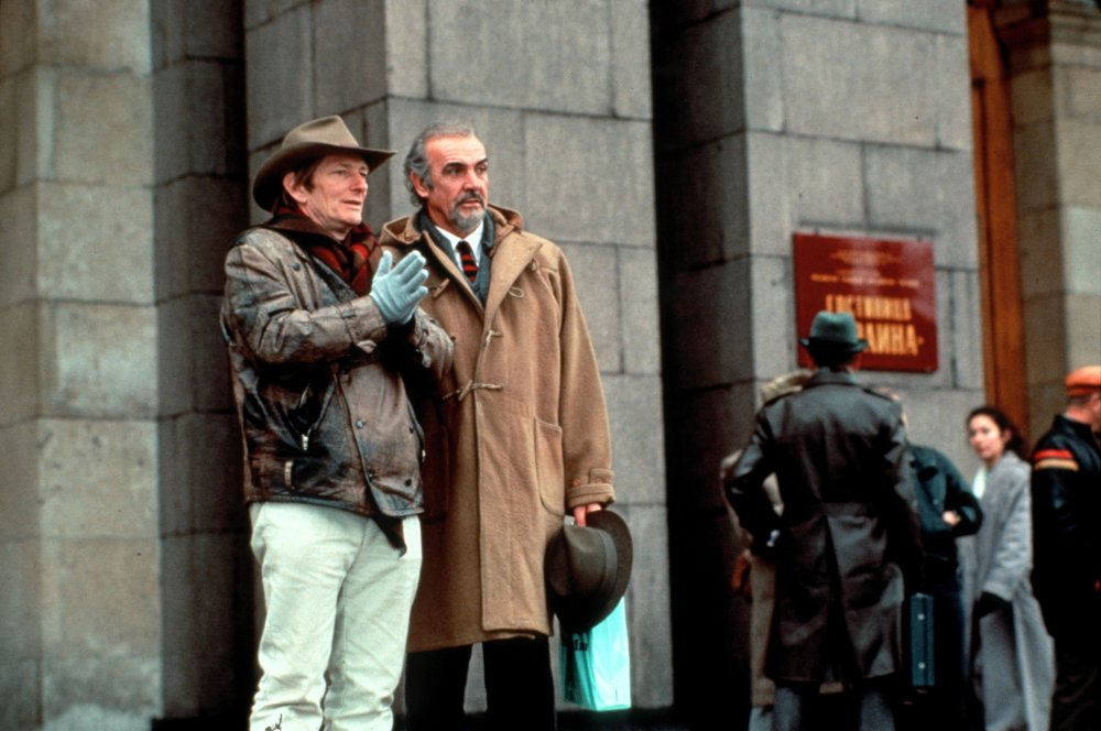 Fred Schepisi directing Sean Connery on the set of The Russia House (1990)