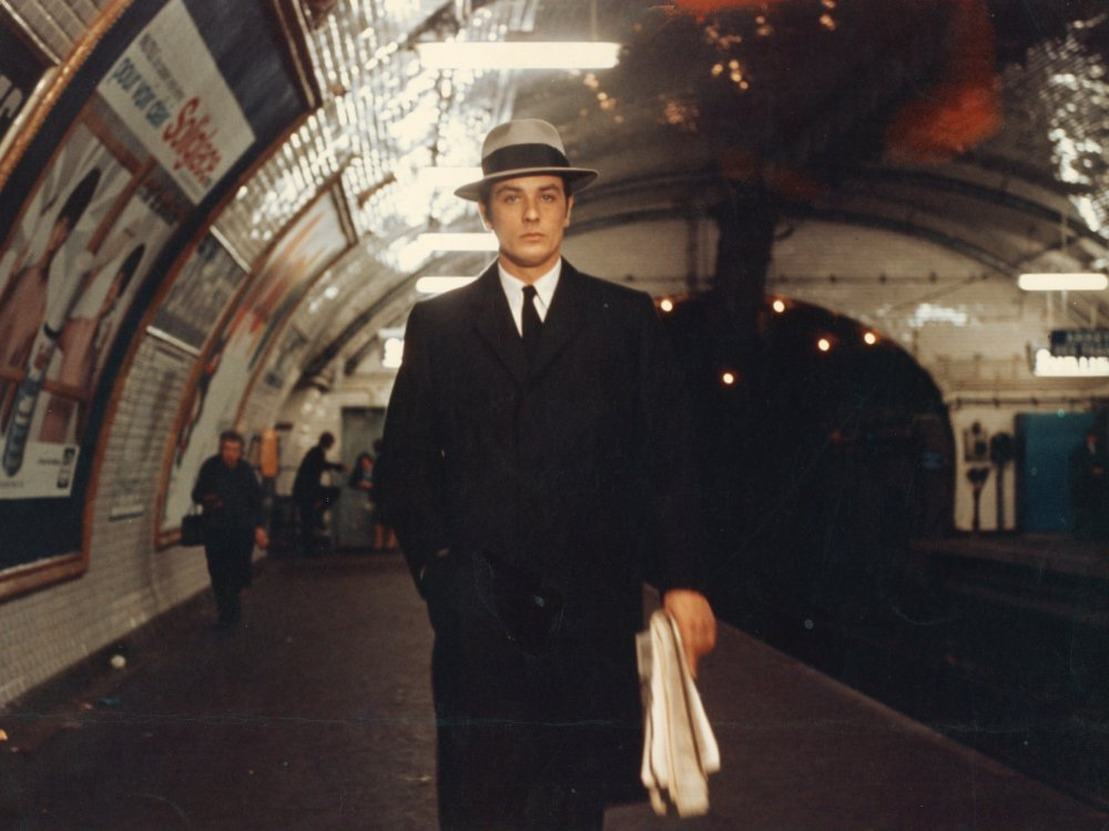 Alain Delon in the Paris Metro in Le Samourai