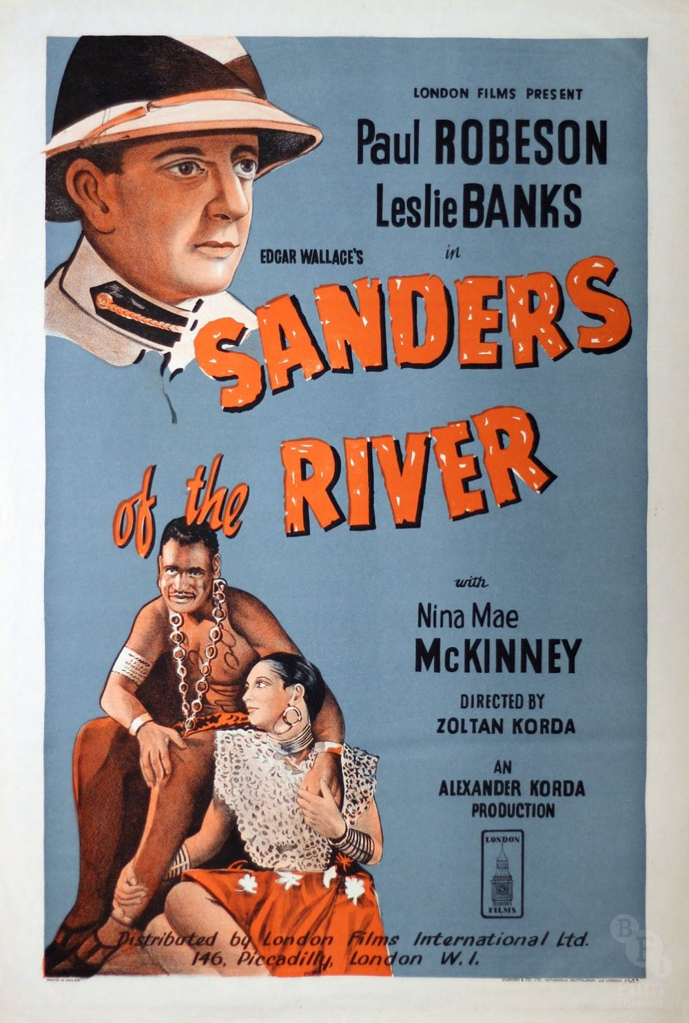 Sanders of the River (1935) poster