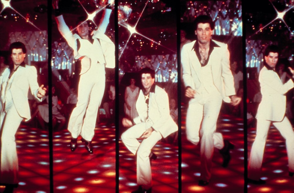 Travolta shot to stardom as disco dancer Tony Manero in the 1977 smash hit Saturday Night Fever