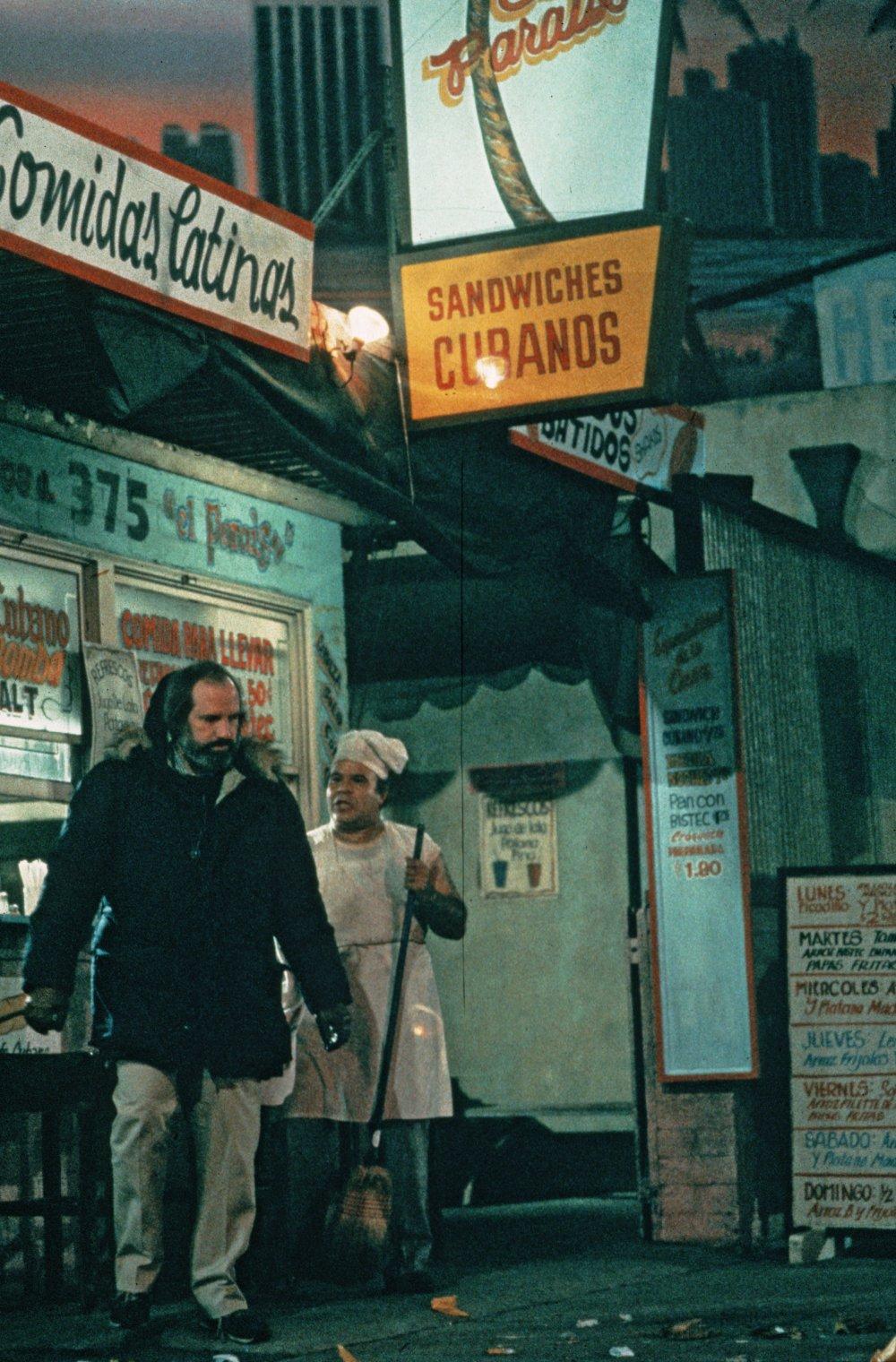 De Palma on location in a Cuban neighbourhood of Miami