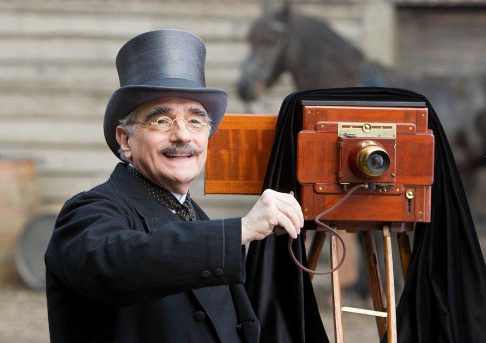 Martin Scorsese on the set of Hugo (2012)