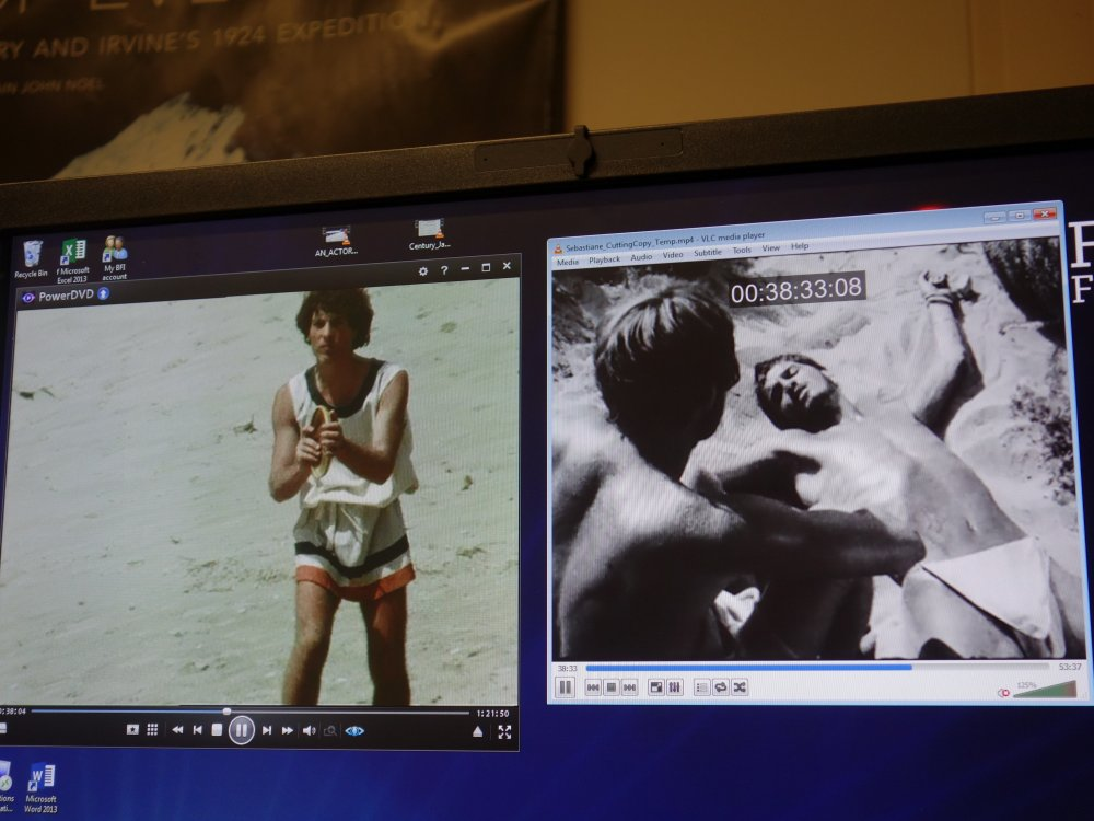 Comparison work being done on the two versions of Sebastiane