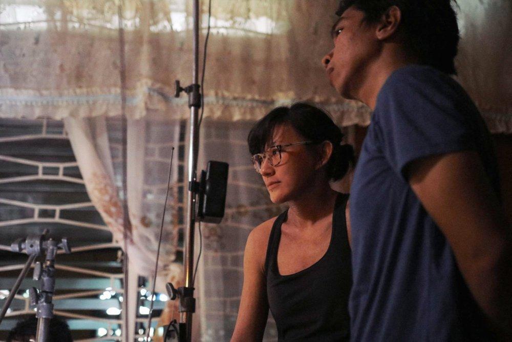 Shireen Seno and John Torres shooting Nervous Translation (2018)