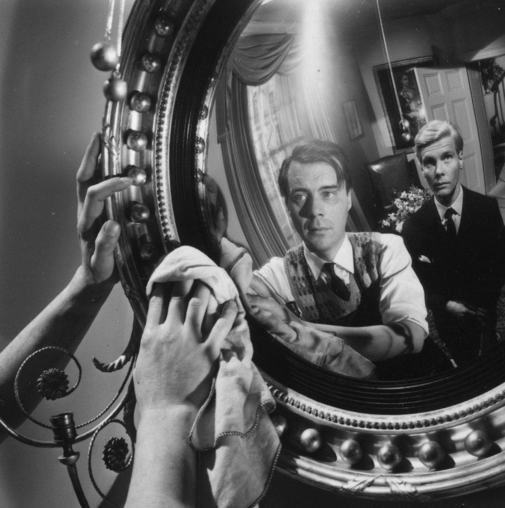 Dirk Bogarde and James Fox in Joseph Losey's The Servant (1963)