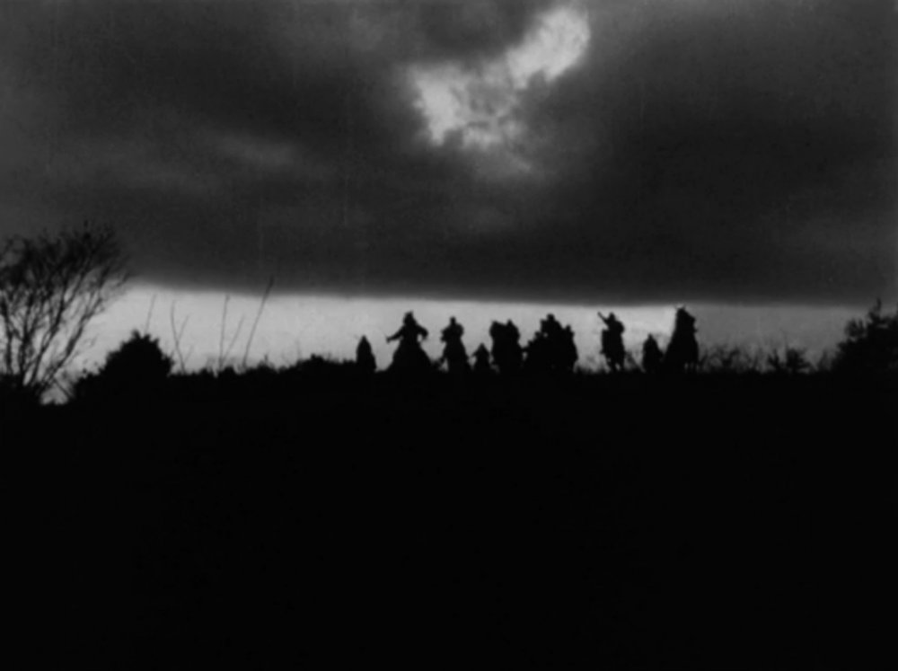 Portentous clouds loom overhead in the introduction, as a group of bandits ransacks the countryside