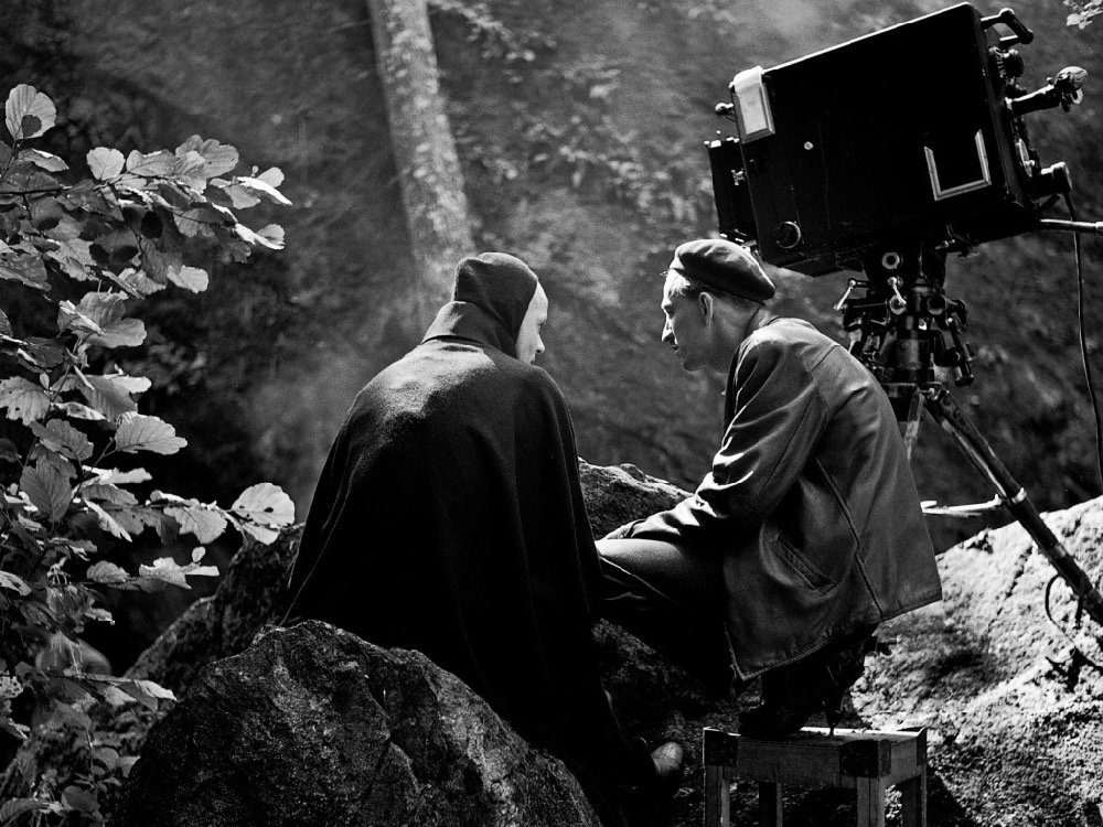 Ingmar Bergman behind the scenes on The Seventh Seal (1957)