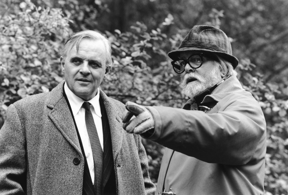 Richard Attenborough directing Anthony Hopkins in Shadowlands (1995)