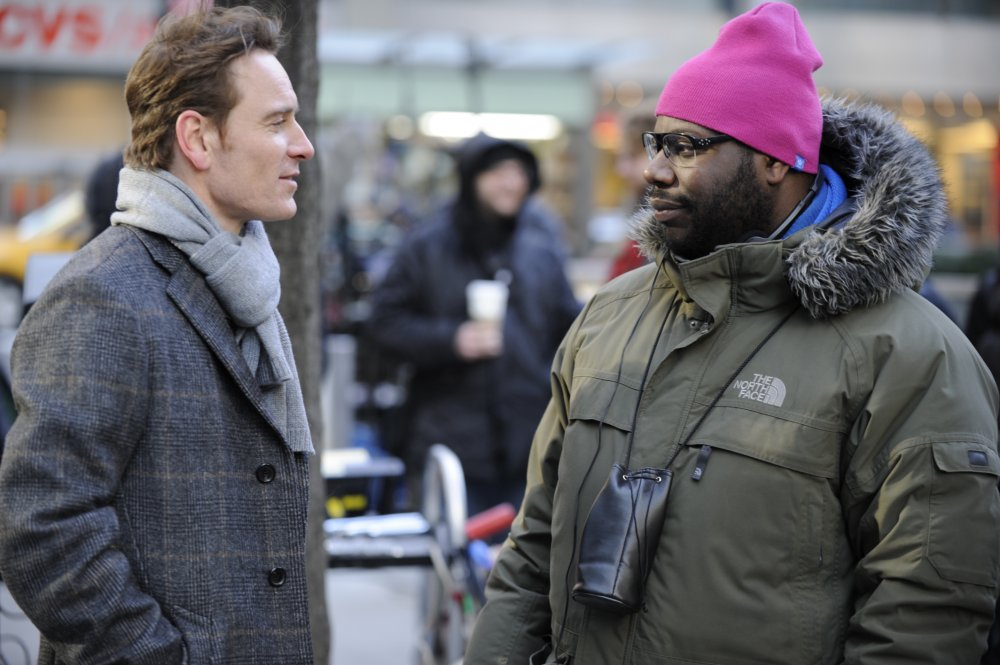 Michael Fassbender and Steve McQueen on location for Shame (2011)