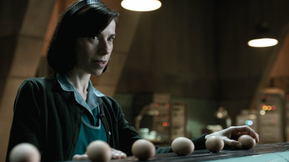 Sally Hawkins as aerospace industry cleaner Eliza Esposito in Guillermo del Toro's fantasy The Shape of Water