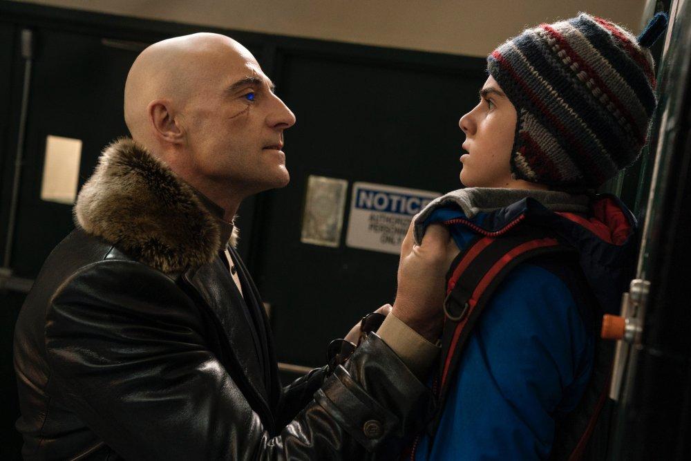 Mark Strong as Dr. Thaddeus Sivana with Grazer