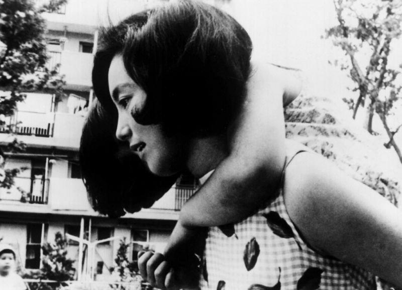 Sachiko Hidari in Susumu Hani's She and He (1963)
