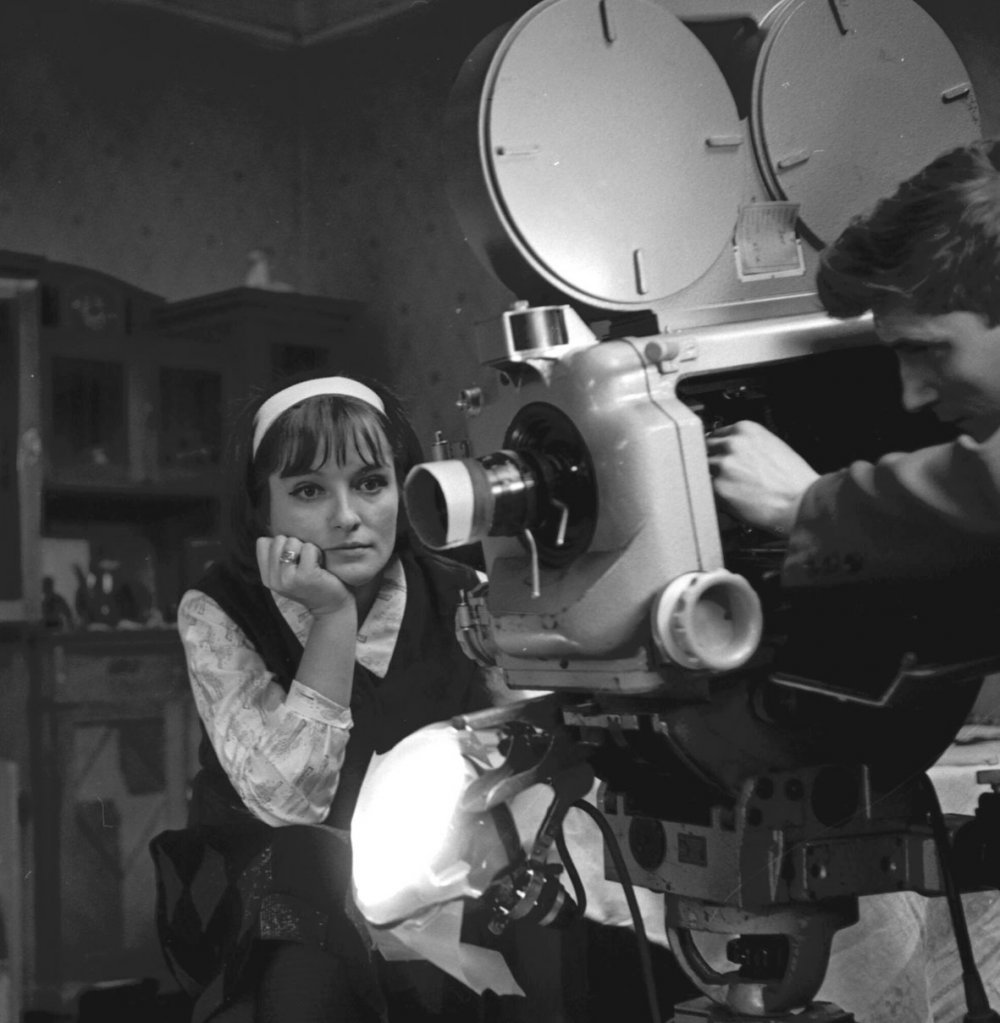 Soviet director Larisa Shepitko on the set of Wings (1966)