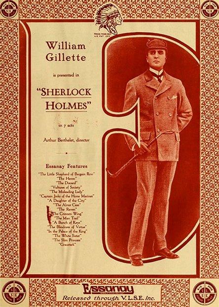 Sherlock Holmes (1916) promotional material