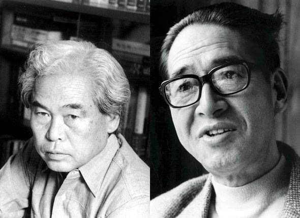 Shindo Kaneto (left) and Yoshimura Kozaburo