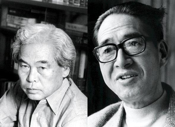 Shindo Kaneto (left) and Yoshimura Kozaburo