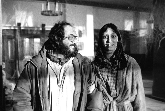 Kubrick on set with Shelley Duvall
