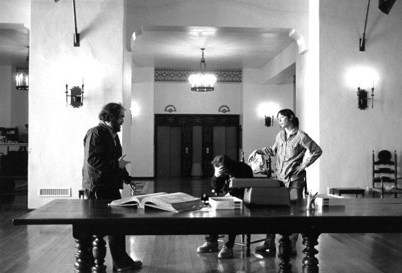 Kubrick, Nicholson and Shelley Duvall in The Overlook Hotel