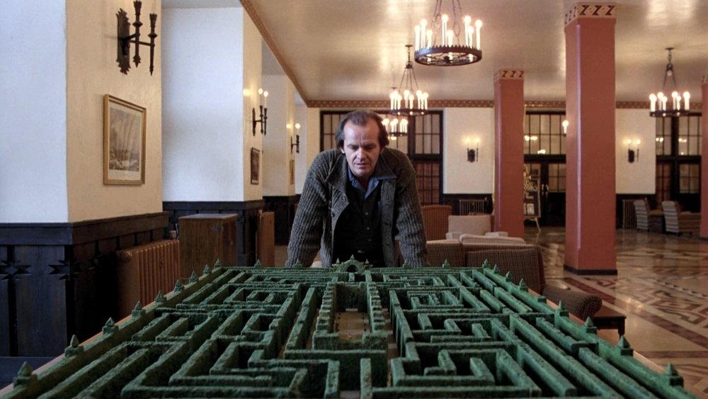Jack Nicholson in Stanley Kubrick's The Shining (1980)