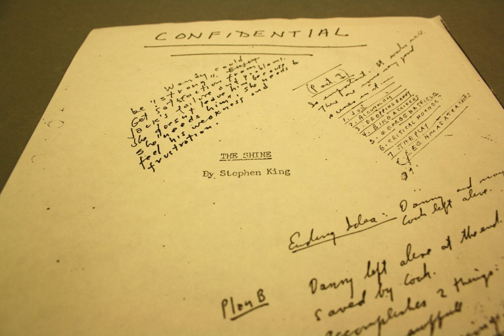 Kubrick's annotated copy of The Shining manuscript