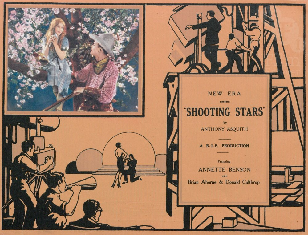 The cover of the pressbook for Shooting Stars (1928)