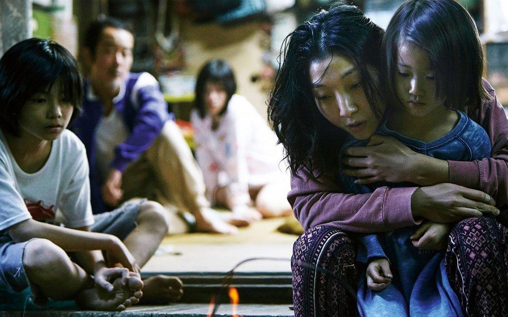 Jyo Kairi as Shibata Shota, Ando Sakura as Shibata Nobuyo and Miyu Sasaki as Hojo Juri / 'Rin' in Shoplifters (Manbiki Kazoku)