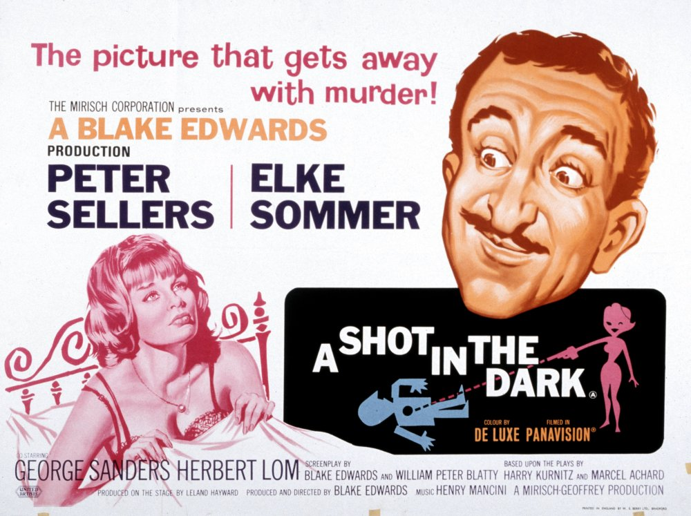 The UK poster for A Shot in the Dark (1964), which Blatty co-scripted with director Blake Edwards
