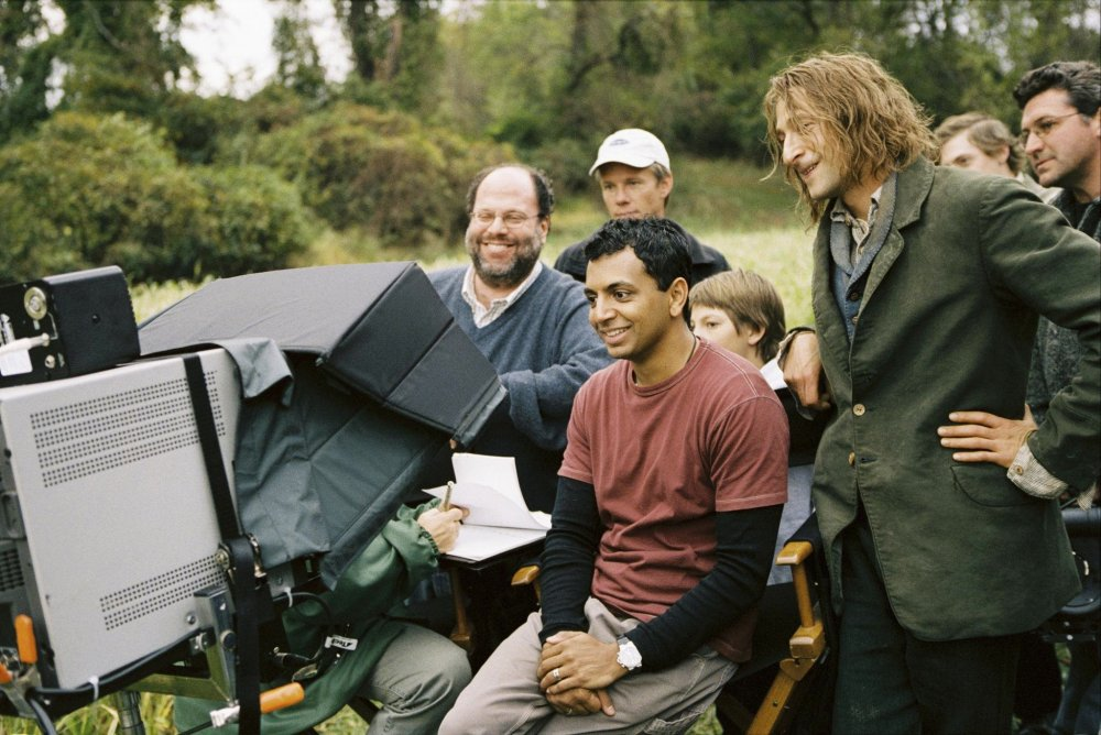 On the set of The Village (2004)