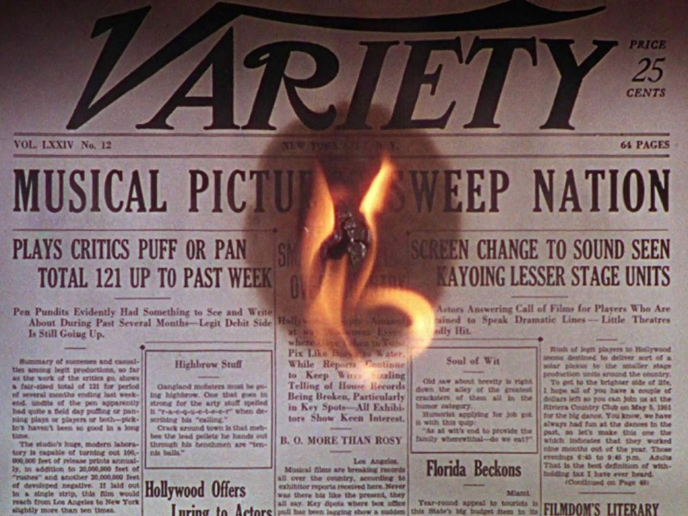 The musical craze reported on a Variety front page in Singin' in the Rain