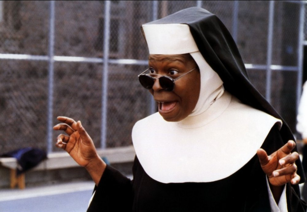 Sister Mary Clarence (Whoopi Goldberg) in Sister Act (1992)